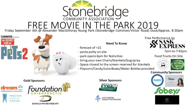 FREE MOVIE IN THE PARK 2019 Poster (Slide Show)